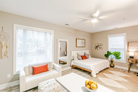 Myrtle Beach Gold Condo Vacation Rental Bedroom 1 scaled