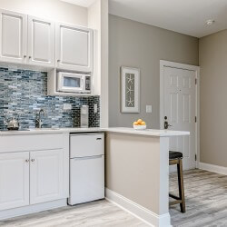 Myrtle Beach Gold Condo Vacation Rental kitchen 3 scaled