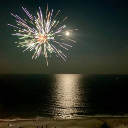 Fireworks and Full Moon July 4 2020 1