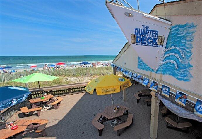 Quarterdeck oceanside bar restaurant